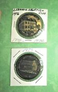 2 Lebanon Valley Coin Club Medal Tokens 1973 And 1976 Indian Fort 1st Courthouse