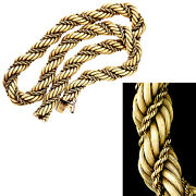Womanandrsquos Large 18k Rope Necklace