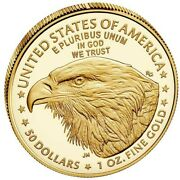 2021-w 50 1 Oz. American Eagle One Ounce Fine Gold Proof Type 2 - 21ebn