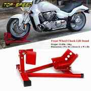 Motorcycle Adjustable Front Wheel Chock Lift Stand For Sport Street Road Bikes