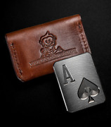 Muck Monkeys Poker Card Guard Protector Casino Chip Ace - Case Included