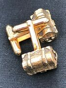 Swank Gold Pirateand039s Treasure Chest Cuff Links