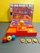 Vintage Pac Man Magnetic Maze Game 1982 Tomy No 7021 Complete No Instructions