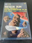 Sealed Meteor Run Umi - Commodore Vic 20 Software - Sealed Brand New