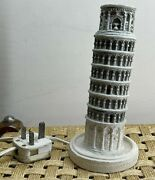 Vintage Table Lamp Light - Italy Leaning Tower Of Pisa D108 H2