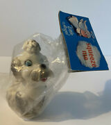 Vintage Alan Jay Clarolyte Poodle Baby Toy Little Angel Squeeze Squeaky Nos Usa