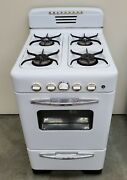 Vintage Universal Cribben And Sexton Gas Apartment Stove 21-inch Viewing Window
