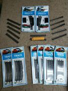 Vtg Lot Of Bachmann N-scale Straight And Radius Track Switches And 4645 Locomotive