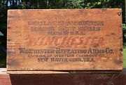 Antique Winchester Arms Co. New Haven Ct Ammunition Wooden Crate Box