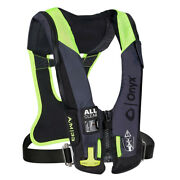Onyx Impulse A/m 33 All Clear W/harness Auto/manual Inflatable Life Jacket Grey