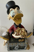 Extremely Rare🔥walt Disney🔥uncle Scrooge On Treasure Chest Figurine Statue💰
