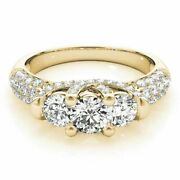 1.46ct Real Diamond Engagement Ring 14k Best Quality Yellow Rings Size 8 9 8 7