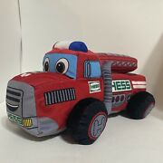 2020 Hess My First Plush Fire Truck Lights Up And Sings Collectible Toy [tested]