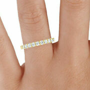 2.50ct Real Diamond Wedding Ring Round Look Yellow Gold Rings Size 6 7 8 9