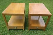 Mid Century Modern End Tables Pair American Of Martinsville Single Bottom Drawer