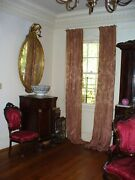 Antique Mirror Rococo French 19th C. Gilt Wood Oval Cupid Crest