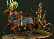 Tin Soldier 90 Mm Superb Elite Luxury Painting In St.petersburg.egyptian Cariot