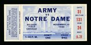 1930 Notre Dame And Army Football Full Ticket High Grade Best Condition On Ebay
