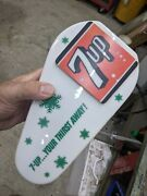 Vintage 7up Seven Up Lighted Sign Soda Fountain Dispenser Topper 1950and039s