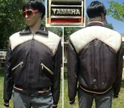 Vintage 70's Yamaha Snowmobile Jacket Quilted Insulation Waterproof Mens M Tall