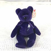 Rare Retired Princess Diana Beanie Baby Purple Bear 1997 Mint W/ Protected Tag