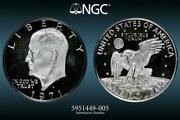 1971 S Eisenhower Ike Silver 1 Dollar Pf69 Ultra Cameo Ngc Photo Vision® 2704