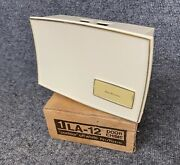 Vintage Nutone Doorbell Chime Concave Contour La-12 Off White New Old Stock