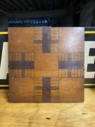 1800s Hand Painted Checkerboard Game Board Folk Art Country Primitive Farmhouse