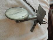 Antique Vintage Spare Tire Mounted Rear View Mirror Figure Ornament