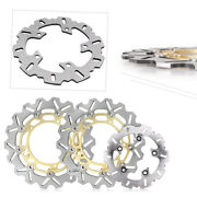 Motorcycle Front And Rear Brake Disc Rotors Pads Fit Yamaha Yzf R6 2003 2004 Gold