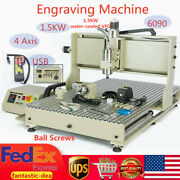 Usb 1.5kw 4 Axis 6090 Cnc Router Engraver 3d Engraving Drill Milling Machine +rc