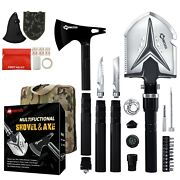 Survival Gear Outdoor Camping Tactical Hiking Military Tool Kit Shovel Rope Axe