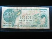 Burundi 1000 Francs 1982 Africa Cows Scarce 5503 World Banknote Currency Money