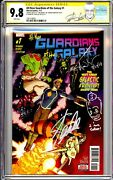 All-new Guardians Of The Galaxy 1 Cgc Ss 9.8 Stan Lee And Aaron Kuder Signed