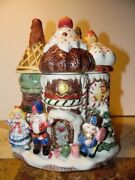 Fitz And Floyd Christmas Nutcracker Sweets Large Cookie Jar 1992