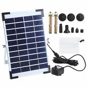 10v 5w Garden Solar Pond Pump Water Fountain Filter Kit Outdoor Floating Pane Ad