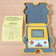Nintendo Game Watch Super Mario F1 Race Not For Sale Rare With Manual Jpn