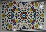 30 X 48 Inches Marble Kitchen Table Top With Marquetry Art Royal Dining Table