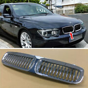 Fit For Bmw E65 E66 Pre-facelift 02-05 745i 745li Chrome Silver Front Grille Abs