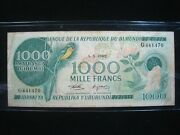 Burundi 1000 Francs 1982 Africa Cows Scarce 441470 Banknote Currency Money