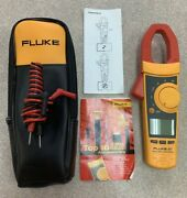 Fluke 337 True Rms Clamp Meter Cat Iii, 600v, 1000a, W/ Case And Leads