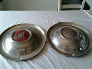 Pair Of Vintage 15andrdquo Plymouth Hubcaps Belvedere Cambridge Clipper Ship 1951-1952