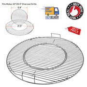 Grill Grate For Weber Charcoal Bbq Round Smoker Replacement Kettle 22.5