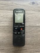 Sony Handheld Voice Recorder Icd-px312 Black Flash Digital Memory Tested