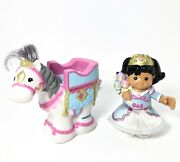 Fisher Price Little People Princess Mia And White Horse Girl For Castle Fantasy