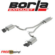 Borla Touring Cat Back Exhaust Kit Fits 2018-2020 Ford Mustang Gt 5.0l Black Tip