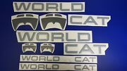 World Cat Boat Emblems 40 + Free Fast Delivery Dhl Express Raised Decals