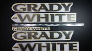 Grady-white Boat Emblems 40 Gold Black + Free Fast Delivery Dhl Express