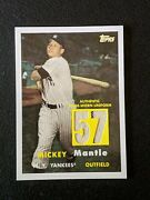 Mickey Mantle 2008 Topps Dual Jersey Relic /57 Pinstripe Rare