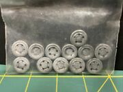 """9/16"""" White Metal Wire Wheels 12 For S Scale Model Train Parts"""